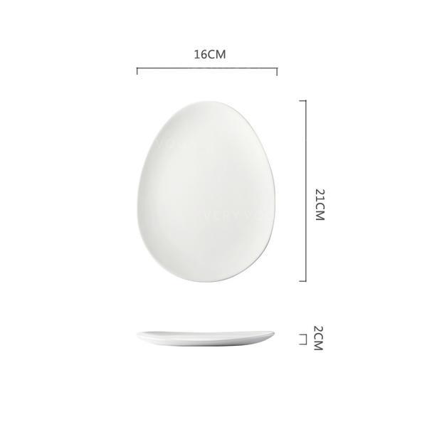 Simple Porcelana Platos de comida
