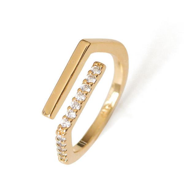 Prachtige Messing Zirkoon Vrouwen Ringen