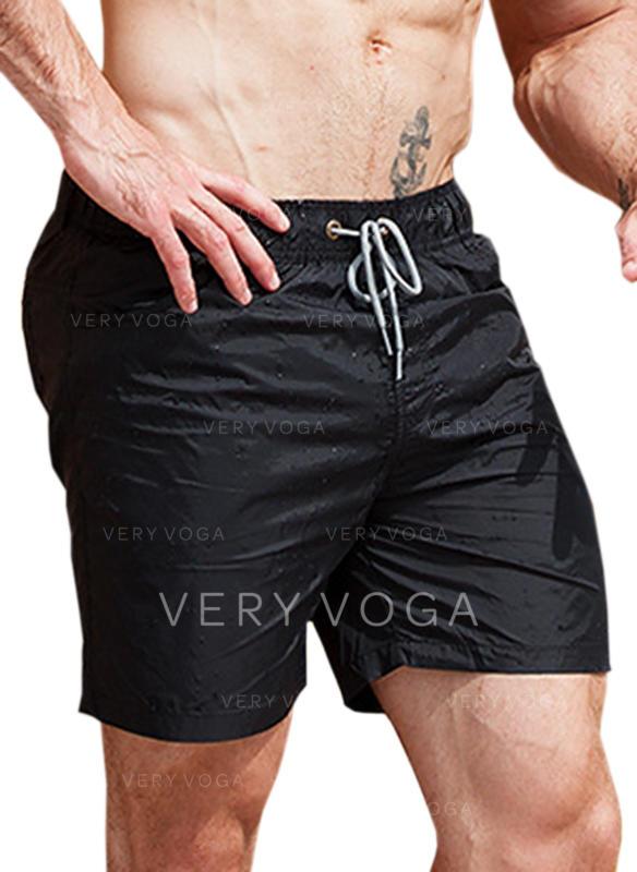 Menn Ensfarget snøring Stort shorts