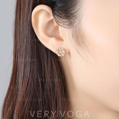 Fashionable Zircon Women's Earrings