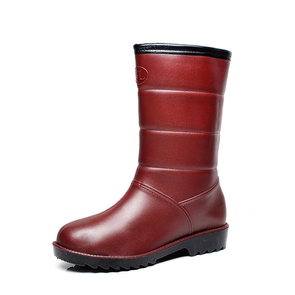 175a19fd8679 Women s PVC Wedge Heel Boots Mid-Calf Boots Rain Boots With Others shoes