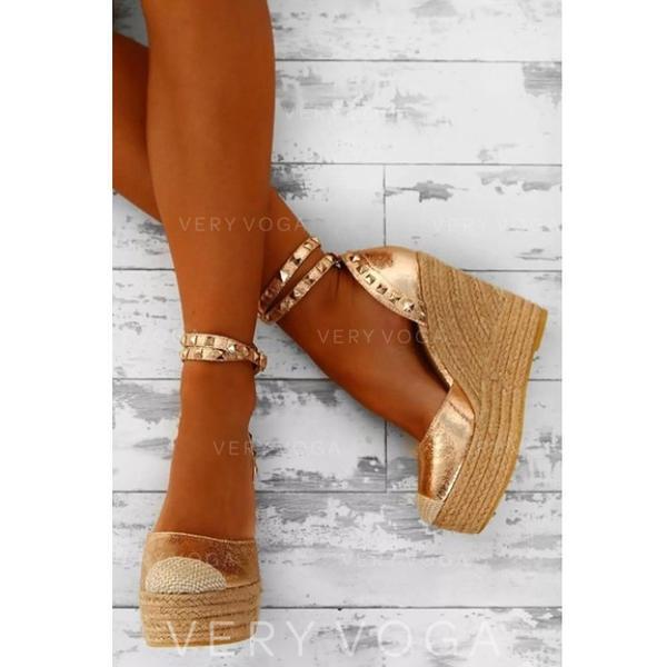 Women's Wedge Heel Sandals Wedges With Rivet shoes
