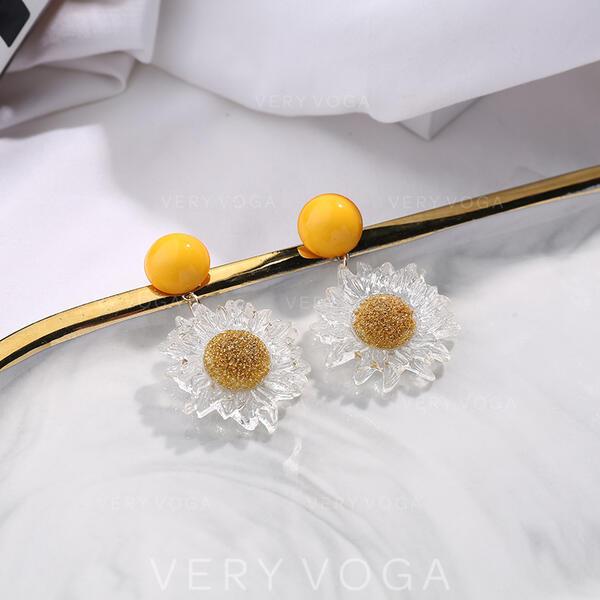 Exquisite Charme Liga com flor Moda Brincos