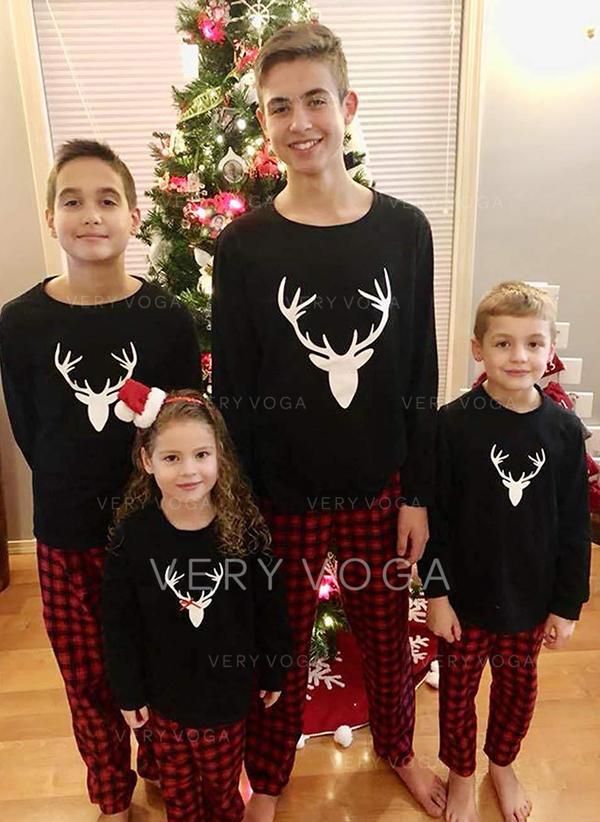 Renne Plaid Inmprimé Tenue Familiale Assortie Pyjamas
