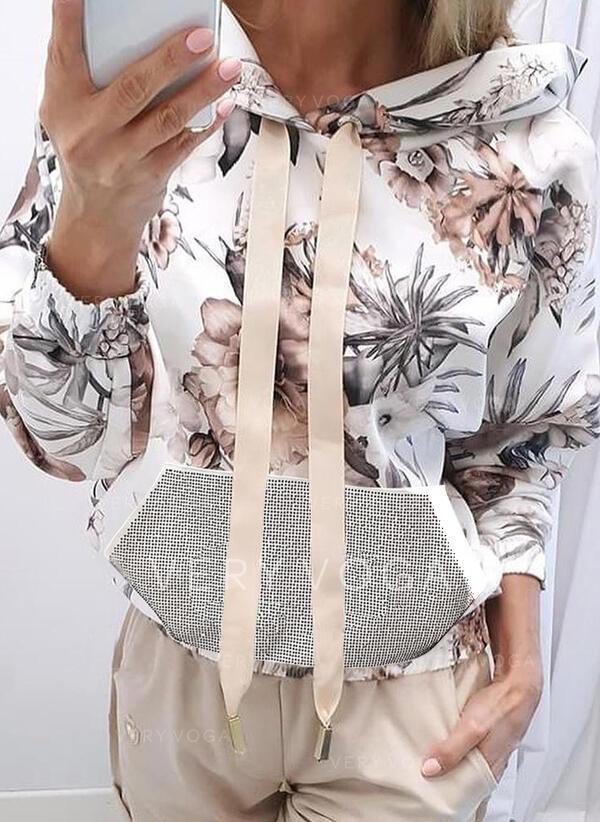 Impresión Floral Manga larga con capucha