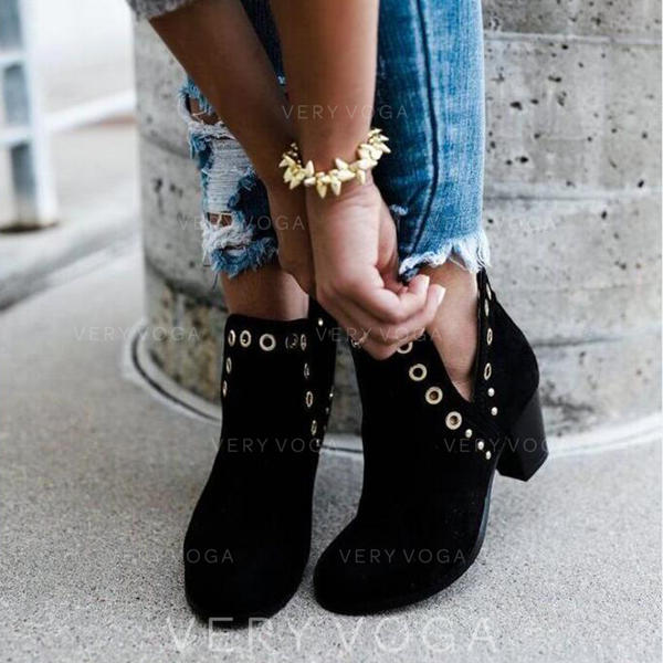 Women's PU Chunky Heel Boots Ankle Boots shoes