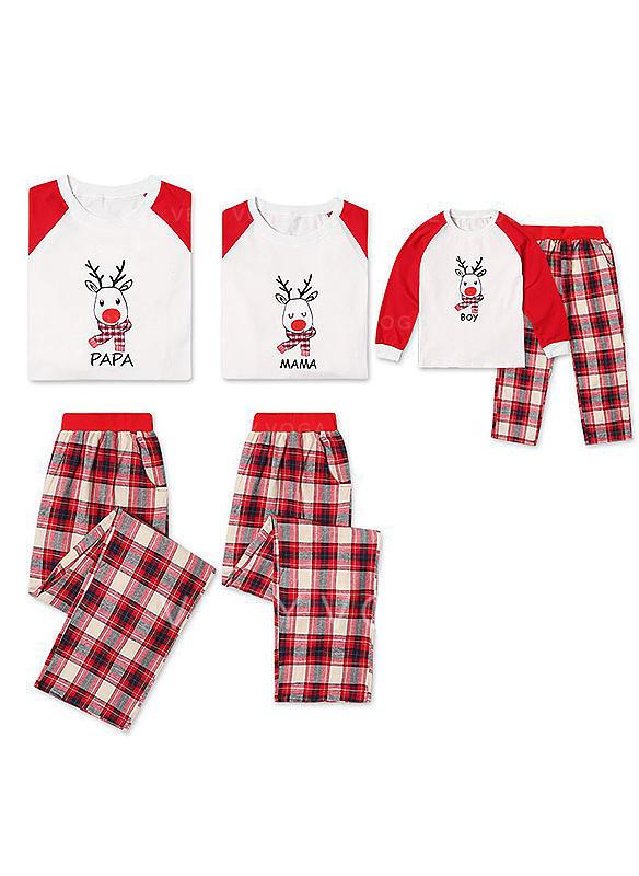 Cerf Plaid Tenue Familiale Assortie Pyjama De Noël