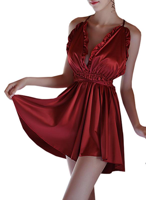 c25405ea9b4d Silke Solid färg Underklänning (1027237279) - Under Klänning ...
