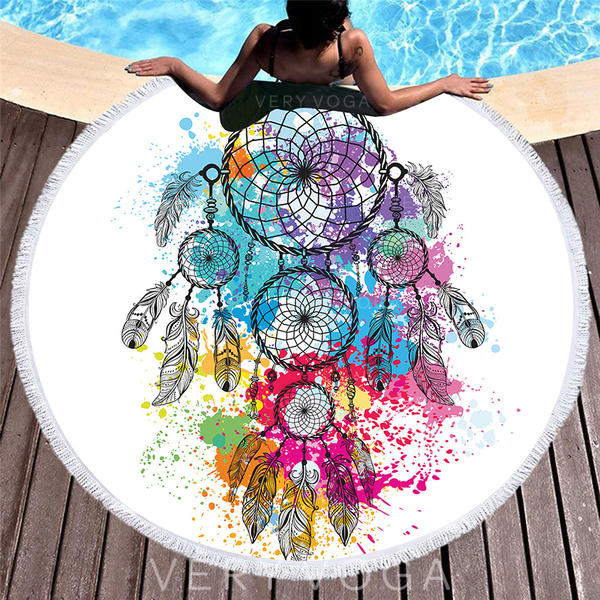 Dreamcatcher Oversized/round Beach Towel