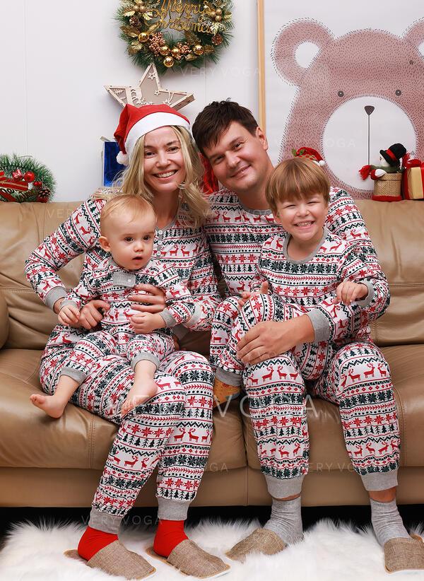 Deer Print Family Matching Christmas Pajamas