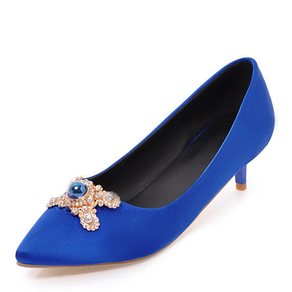 3810dcdd26b [US$ 34.99] Women's Fabric Low Heel Closed Toe With Imitation Pearl shoes -  VeryVoga