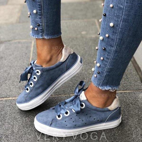 Vrouwen PU Flat Heel Flats met Vastrijgen schoenen