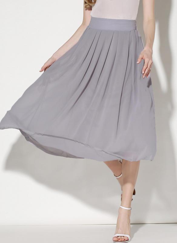 9afb88998ab7 Šifón Jednobarevný Do půl lýtek Skládané sukně (1005236215) - Sukně ...
