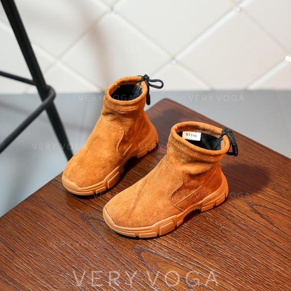 bbb26bd1fa69a Fille de en tissu talon plat bout rond Bout fermé Bottines Chaussures  plates Bottes Sneakers