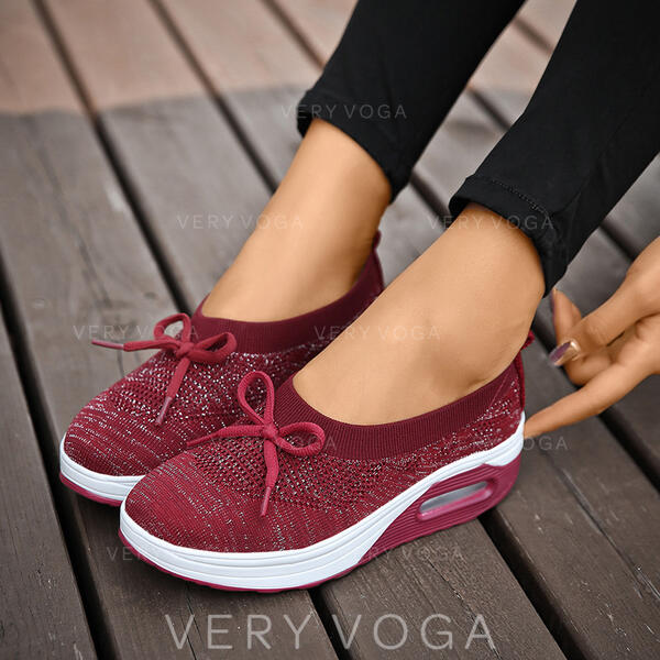 Women's Microfiber Outdoor Athletic With Lace-up shoes