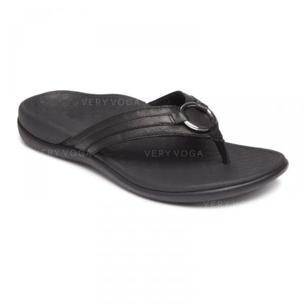 Women's Leatherette Flat Heel Sandals Peep Toe Slingbacks Slippers With Buckle shoes
