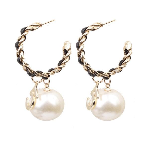 Stylish Alloy Leatherette Women's Earrings