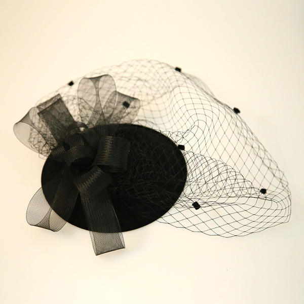 Dames Beau Feather/Fil net/Velours Chapeaux de type fascinator