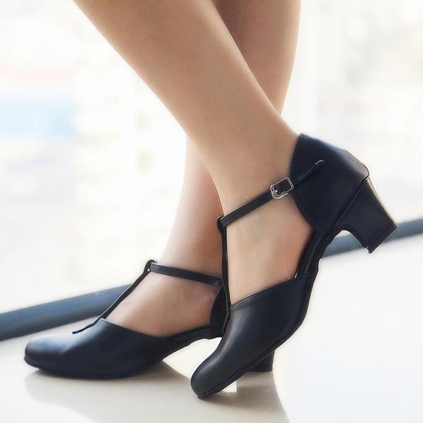 7642a977 Dla kobiet Skóra ekologiczna Obcasy Czólenka Sala Balowa Swing buty do  butów Z Pasek w ksztalcie