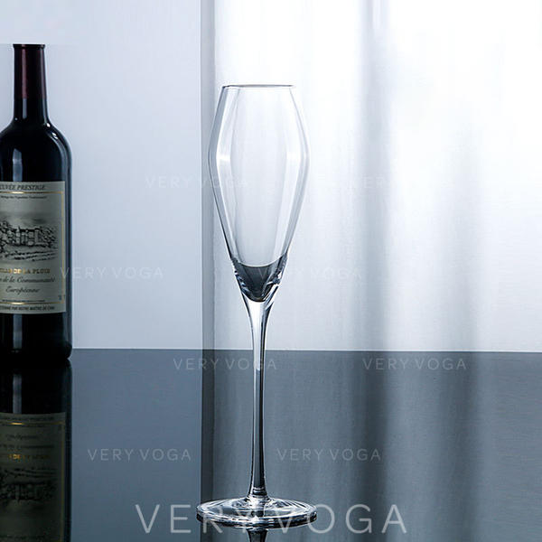 Classic Glass Champagne Glasses (Set of 6)