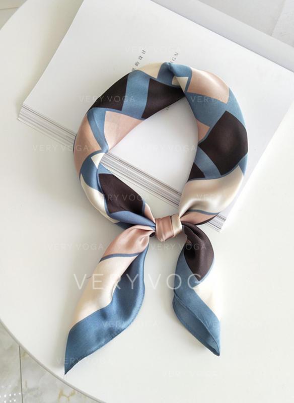 Geometrický Potisk Čtverec/Lehká váha Čtvercový šátek