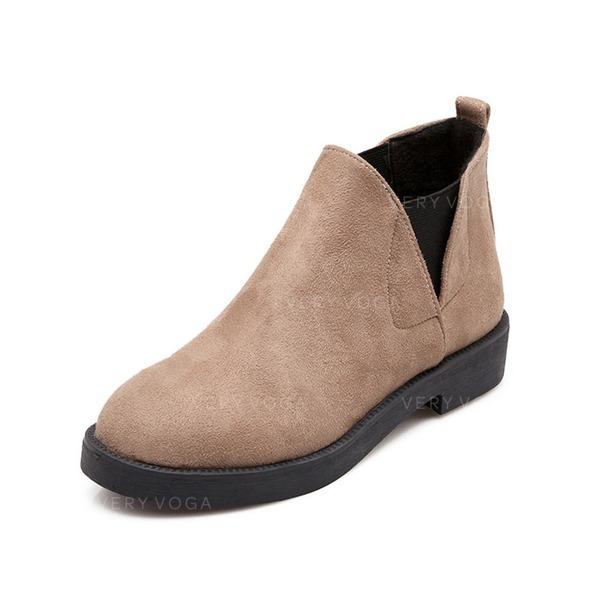 femmes su de talon plat bottines chaussures 088074428 bottes veryvoga. Black Bedroom Furniture Sets. Home Design Ideas