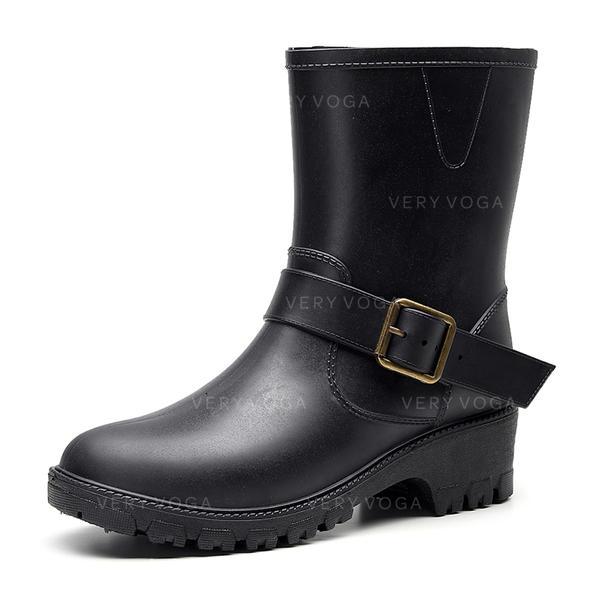 Naisten PU Chunky heel Kumisaappaat jossa Solki kengät
