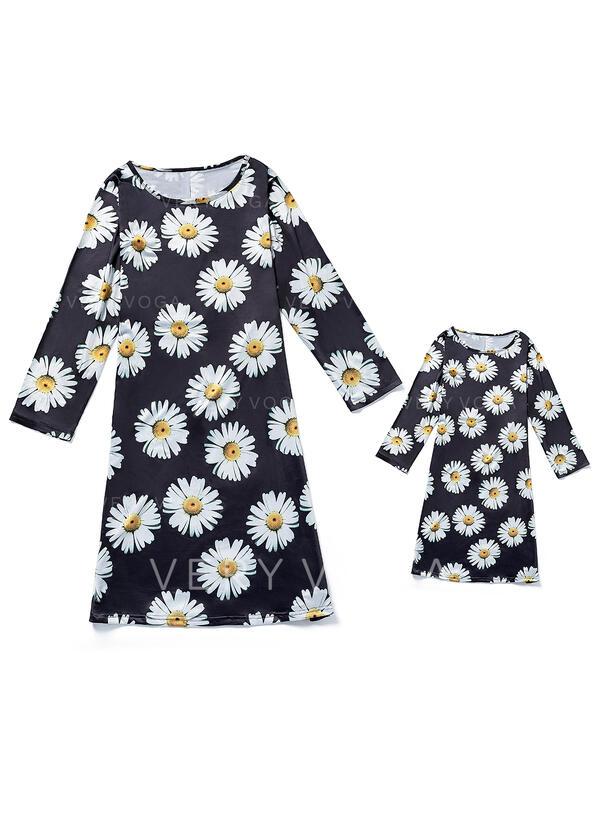 Maman et moi Floral Inmprimé Correspondant à Robes