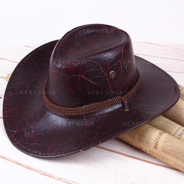 De los hombres Estilo clásico cuero/Pu Sombrero de vaquero