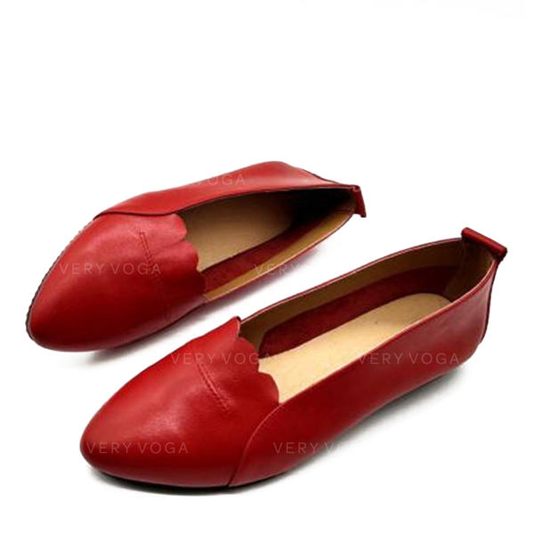Women's Real Leather Flats With Others shoes