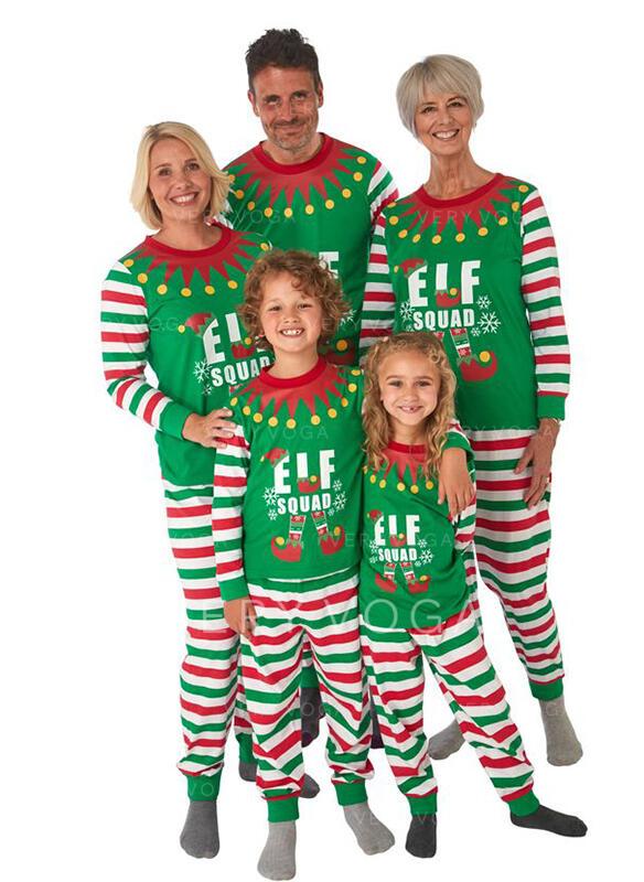 Επιστολή Ριγέ Οικογένεια Εμφάνιση Χριστουγεννιάτικες πιτζάμες