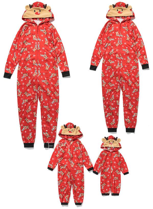 Cerf Tenue Familiale Assortie Pyjama De Noël