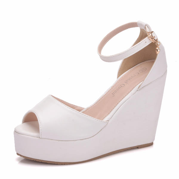 75ab26d2d29 [US$ 23.99] Women's Leatherette Wedge Heel Flip-Flops Peep Toe Platform  Wedges - VeryVoga