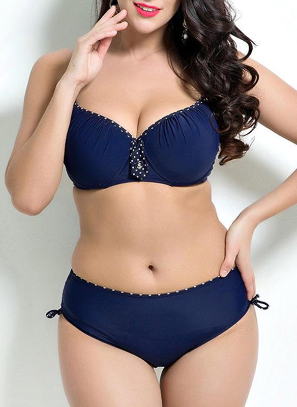 Couleur Unie Armature À Bretelles Sexy Grande taille Bikinis Maillots De Bain