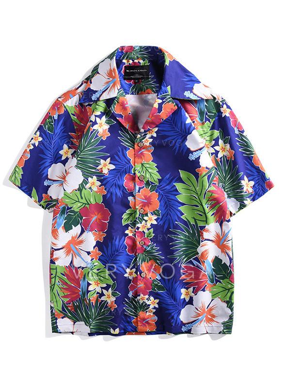 Men's Floral Hawaiian Quick Dry Beach Shirts