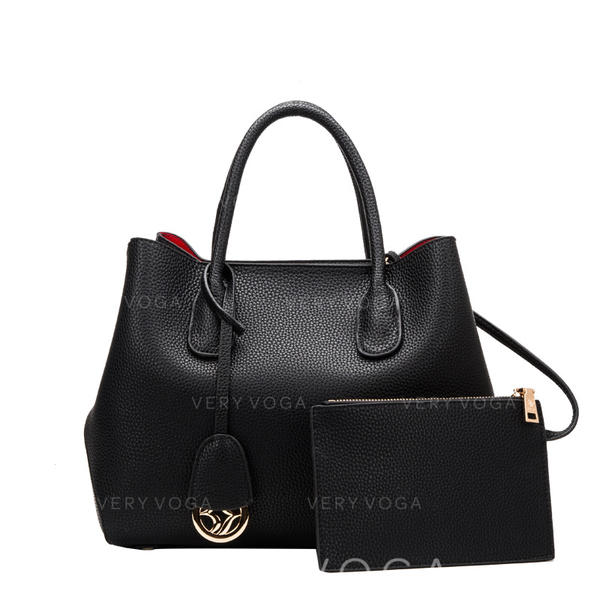 Solid Color Boston Bags/Bag Sets/Wallets & Wristlets