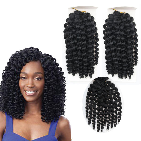 Curly Synthetic Hair Hair Braids Sold In A Single Piece 100g
