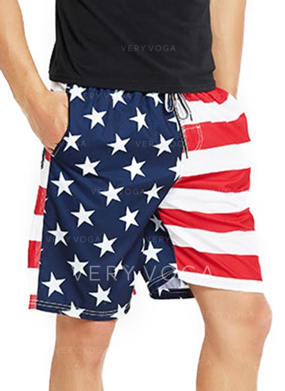 Menn Stripe stjerne Stort shorts
