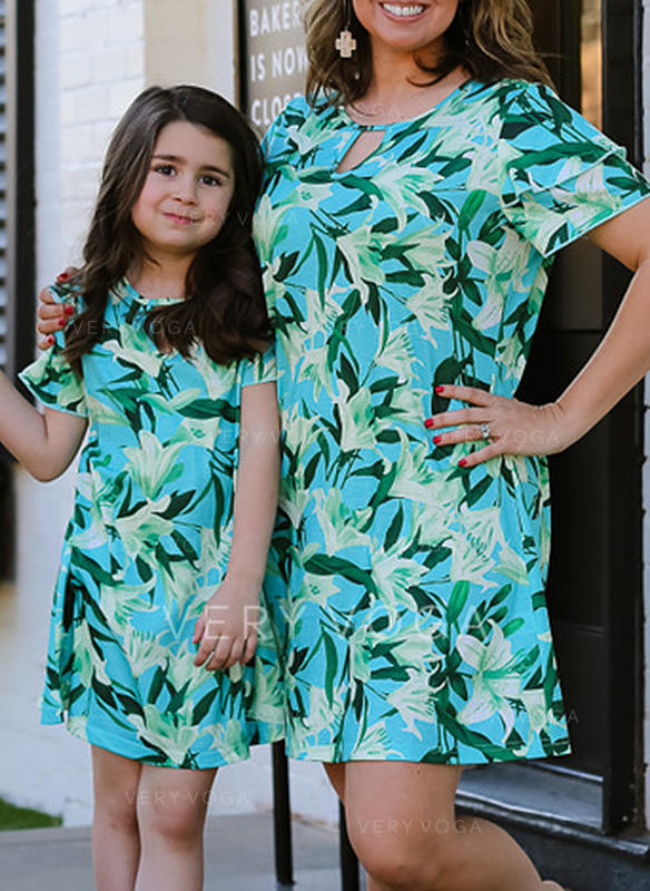 Mommy and Me Floral Print Matching Dresses