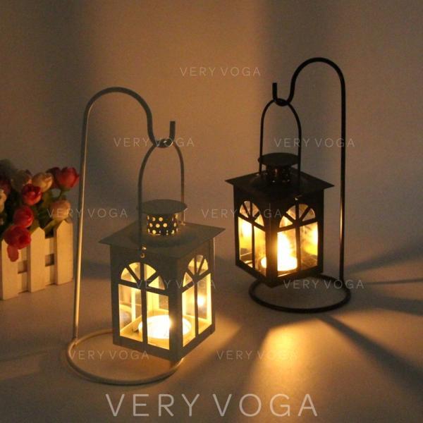 Modern Style Le Fer Verre Lanterne