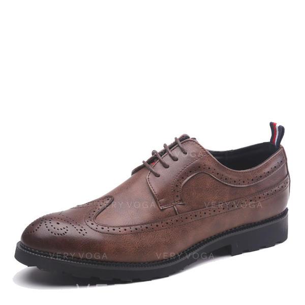 f38152addd633 Pánské Mikrovlákno Kůže šněrovací Brogue Společenské boty Pánská obuv Oxford
