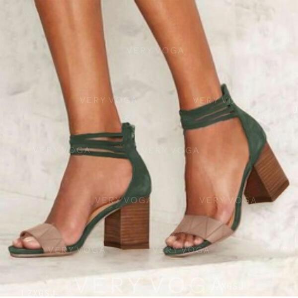 Сандалі Насоси взуття на короткій шпильці з Колір зрощення взуття