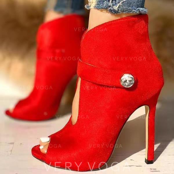 Vrouwen PU Spool Hak Pumps Peep Toe met Knoop schoenen
