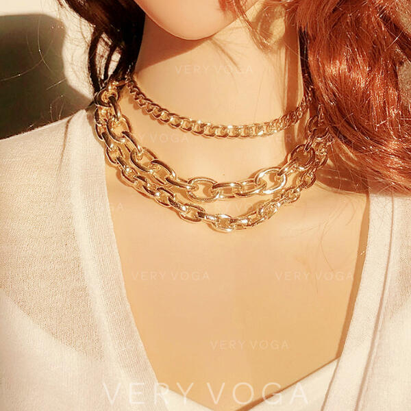 Hottest Fancy Alloy Jewelry Sets Necklaces (Set of 3)