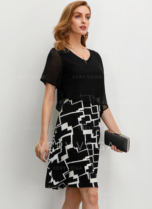 elegante kleider knielang
