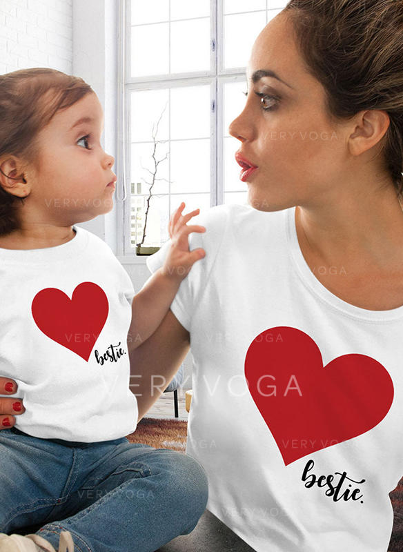 Mommy and Me Letter Print Matching T-Shirts