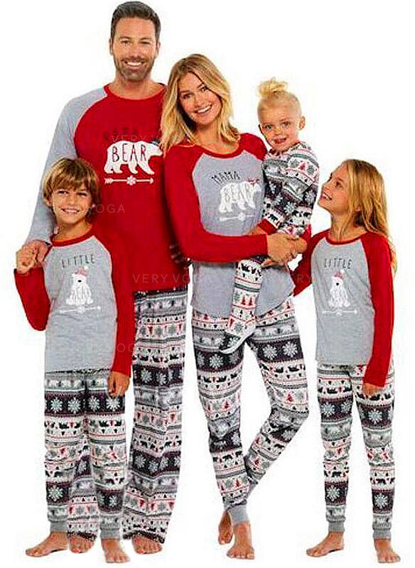 Bear Family Matching Christmas Pajamas