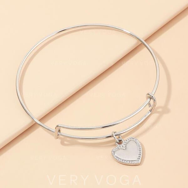 Style Classique Simple Alliage avec Coeur Bracelets