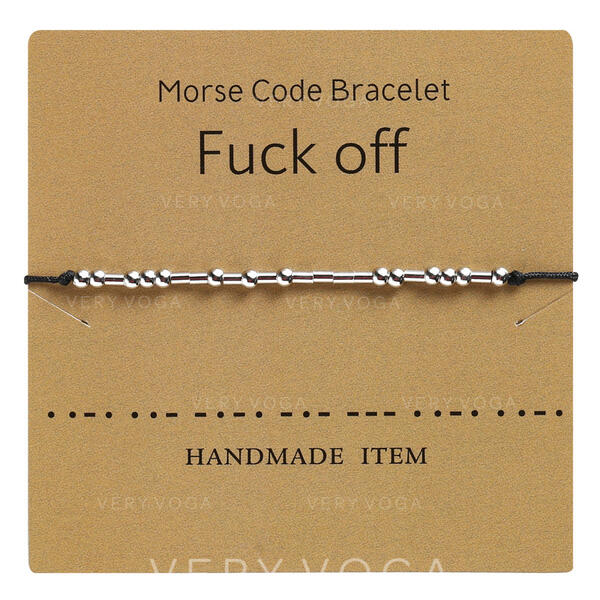 Simple Morse Code Alloy Braided Rope Women's Bracelets