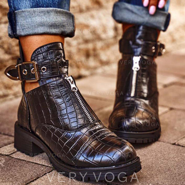 пряжка Молния Выдолбить Сплошной цвет обувь